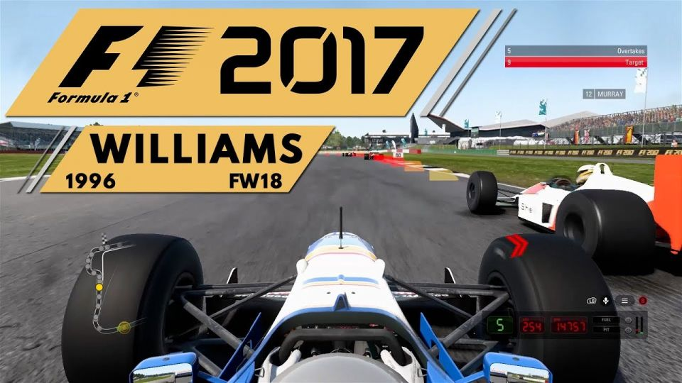 F1 2017 Historic Event 1996 Williams Silverstone video thumbnail